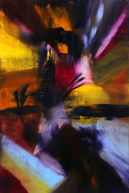 Very Sunshine- Collection privée artiste PA - Painting,  54x81 cm ©2009 by Muriel Cayet -