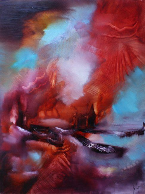 A piacere - Painting,  80x60 cm ©2011 by Muriel Cayet -
