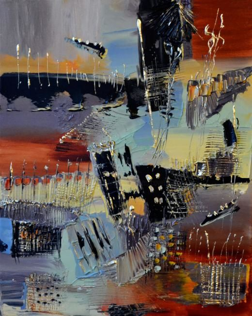 Aquitaine - Painting,  50x40 cm ©2012 by Muriel Cayet -