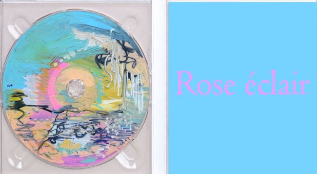 Rose éclair - Painting, ©2012 by Muriel Cayet -