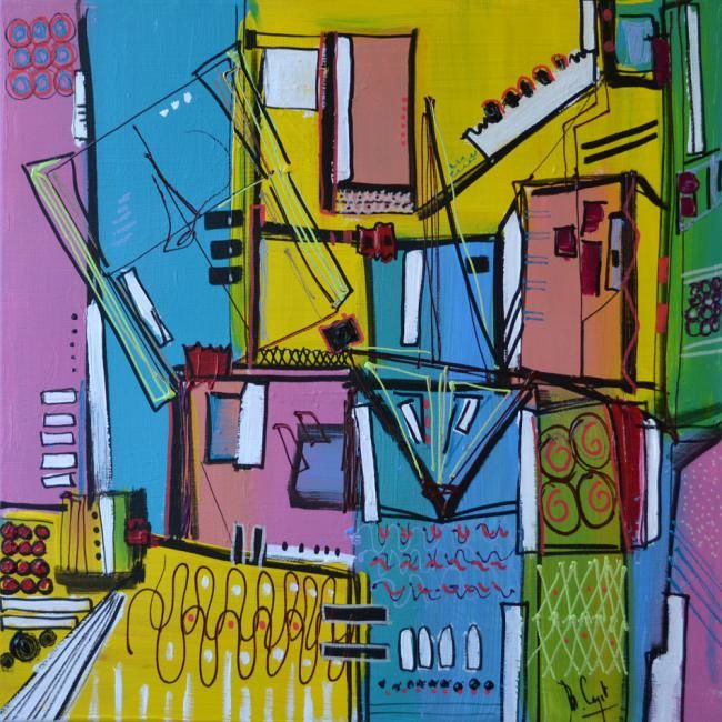 Painting,  50 x 50 cm ©2012 by Muriel Cayet -  Painting