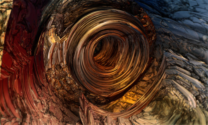 B 70 - Digital Arts,  60x100 cm ©2018 by Yves Molina -                                                            Illustration, Other, Science & Technology, fractal art, digital, numérique