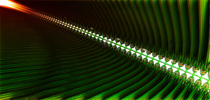 B_22 - Digital Arts,  18.9x39.4 in, ©2016 by Yves Molina -                                                                                                                                                                                                                                                                                                                                                                                                              Illustration, illustration-600, Other, Science & Technology, fractal, digital, art, numérique