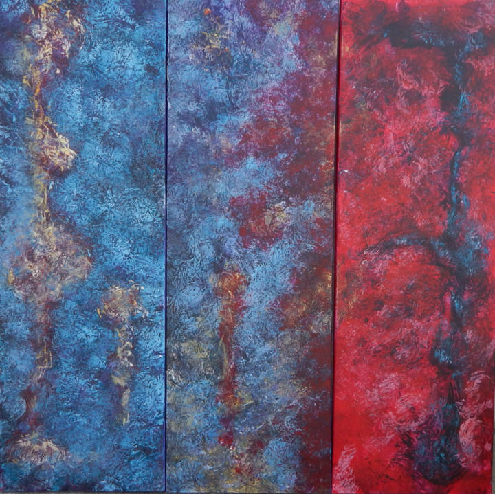 Confusion des genres - Painting,  120x120 cm ©2014 by Chamartin -                                                            Abstract Expressionism, Canvas, Classical mythology, non figuratif - abstrait - abstraction lyrique