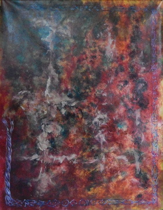 Sans titre - II - Painting,  140x150 cm ©2014 by Chamartin -                                            Abstract Art, Abstract Art, abstrait, expressionnisme abstrait, abstraction lyrique, non figuratif