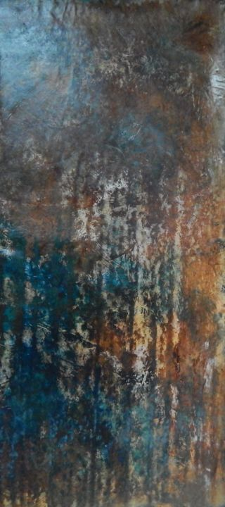 Sans titre III - Painting,  150x50 cm ©2014 by Chamartin -                                        Abstract Art, Abstract Art