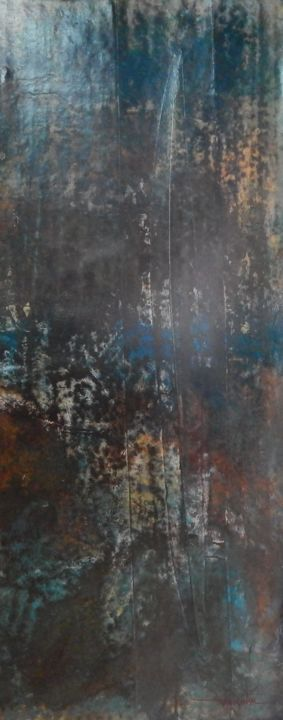 Sans titre IV - Painting,  59.1x19.7 in, ©2014 by Chamartin -                                                                                                                                                                          Abstract, abstract-570, Abstract Art