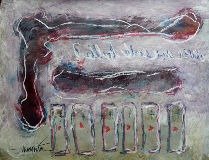 acryl-sur-papier-avril-2015-messages-15.jpg - Painting ©2015 by Chamartin -