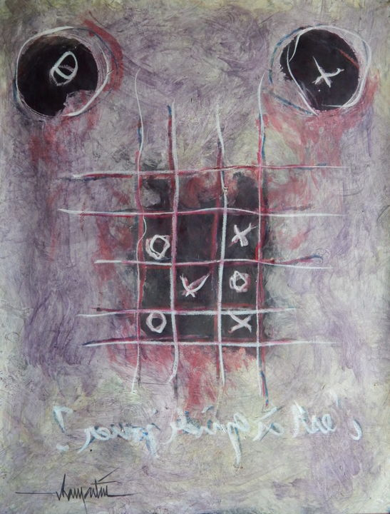acryl-sur-papier-avril-2015-messages-16.jpg - Painting ©2015 by Chamartin -