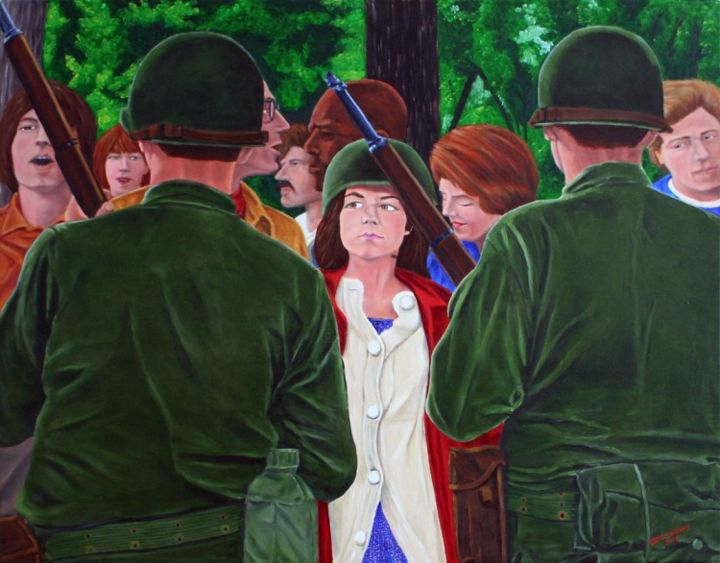 """Painting titled """"Insurgents"""" by Cecil Williams, Original Art,"""