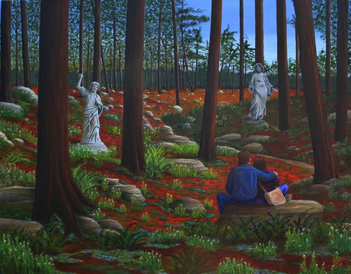 """Painting titled """"Prognostication"""" by Cecil Williams, Original Art, Oil"""