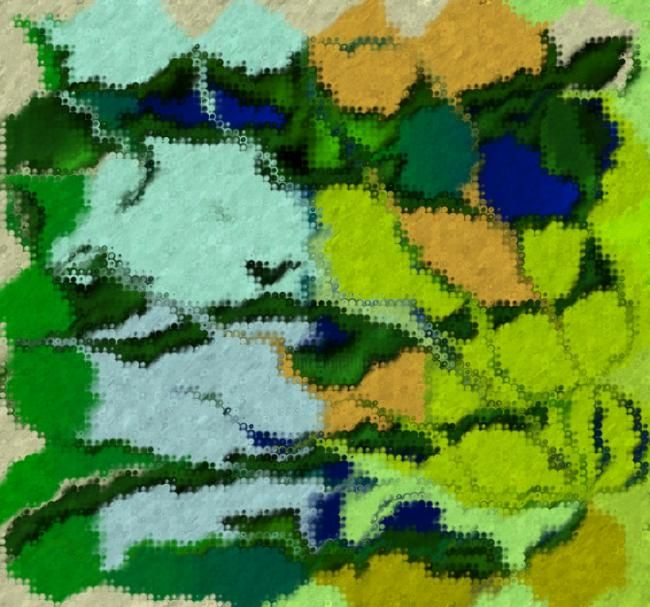 """Digital Arts titled """"Patches"""" by Christian Cello, Original Art,"""