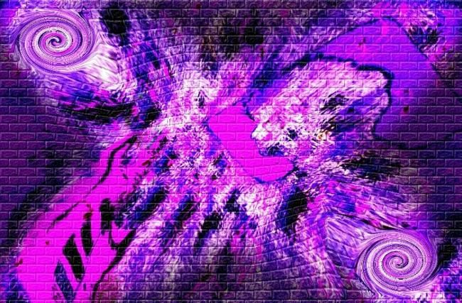 """Painting titled """"Purple"""" by Christian Cello, Original Art, Oil"""