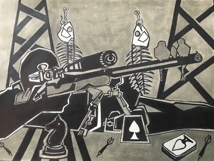 """Drawing titled """"they never come for…"""" by Cesar Yarleque, Original Art, Marker"""