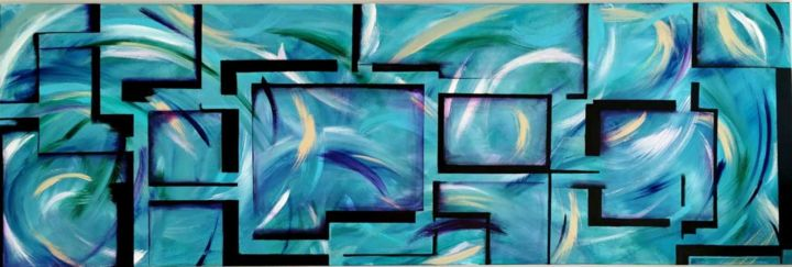 """Painting titled """"Magnifying Glasses"""" by Maria Renna, Original Art, Acrylic"""