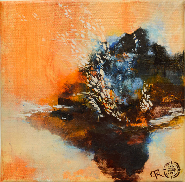 """Painting titled """"Série ocre 2"""" by C.F.X, Original Art, Acrylic"""