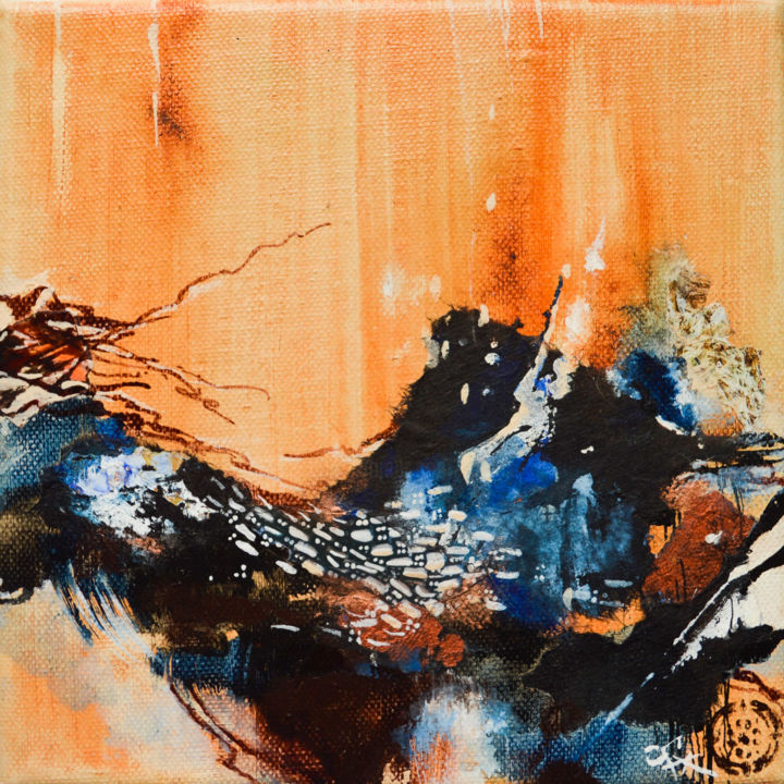 """Painting titled """"Série Ocre 4"""" by C.F.X, Original Art, Collages"""