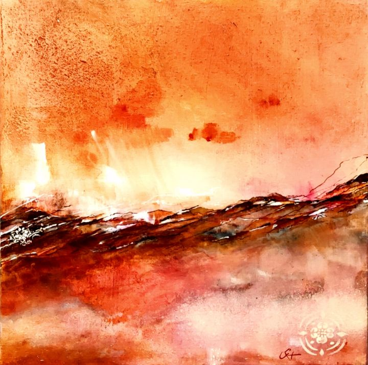 """Painting titled """"Paysages graphique"""" by C.F.X, Original Art, Ink"""