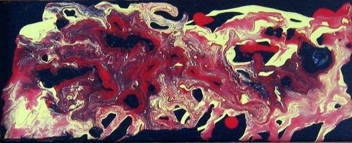 Mouvement #3 - Painting, ©2003 by Claude Gascon -                                                                                                                                                                                                                          Abstract, abstract-570, Abstract Art, mouvement