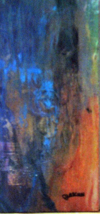 Le monde des ombres # 1 - Painting,  8.5x3.9 in, ©2007 by Claude Gascon -                                                                                                                                                                                                                                                                                                                  Abstract, abstract-570, Spirituality, Fantasy, monde, ombres