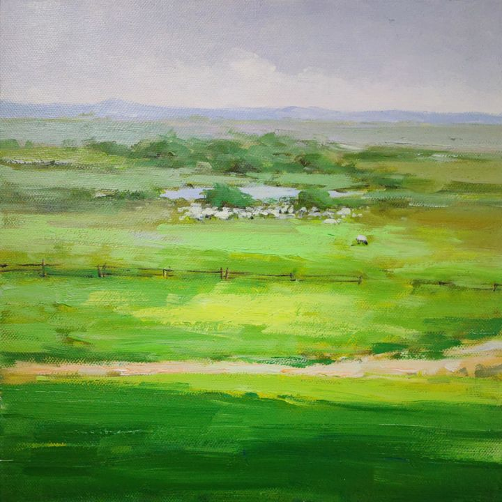 """Painting titled """"Glassland 002D"""" by Lermay Chiang, Original Art, Acrylic Mounted on Stretcher frame"""