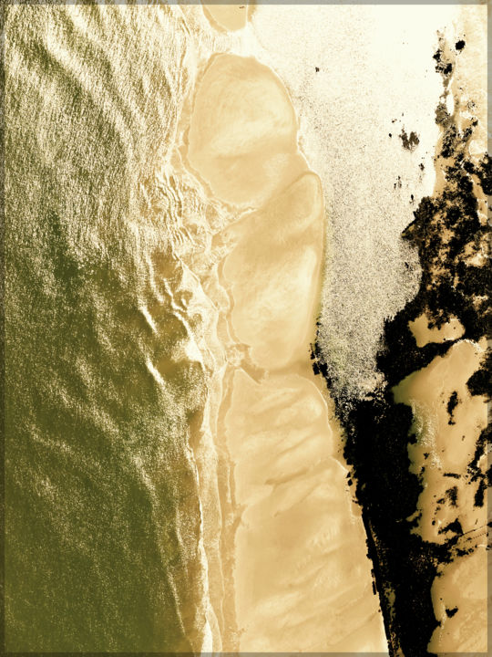 Lumière - Photography, ©2019 by Chail -                                                                                                                                                                                                                                                                                                                                                                                                          Abstract, abstract-570, Airplane, Aerial, Seascape, Beach, aerien, formes