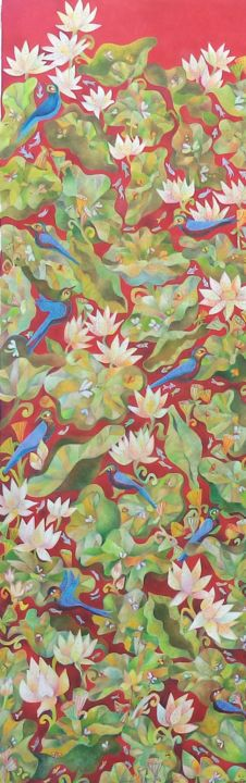 """Painting titled """"Life"""" by Chaitali Chatterjee, Original Art, Oil"""