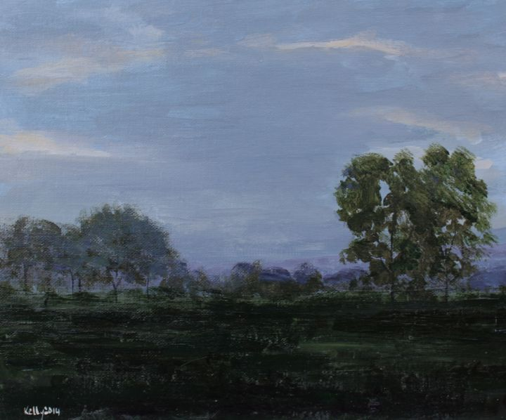 """Painting titled """"Dusk"""" by Terence Kelly, Original Art, Acrylic"""