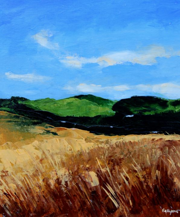 """Painting titled """"Wild Cornfield"""" by Terence Kelly, Original Art, Acrylic"""
