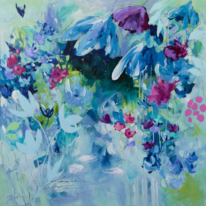 """Painting titled """"Botanica 4"""" by Chantal Proulx, Original Art, Acrylic Mounted on Stretcher frame"""