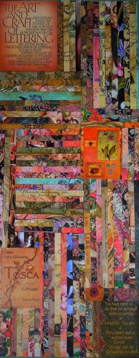 """Collages titled """"Mixed Media Salad 2"""" by Charlene, Original Art,"""