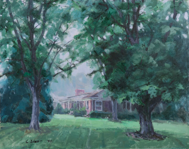 """Painting titled """"Morning Fog #1"""" by Charles Jiao, Original Art, Oil"""