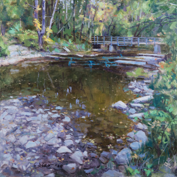 """Painting titled """"Early Autumn"""" by Charles Jiao, Original Art, Oil"""