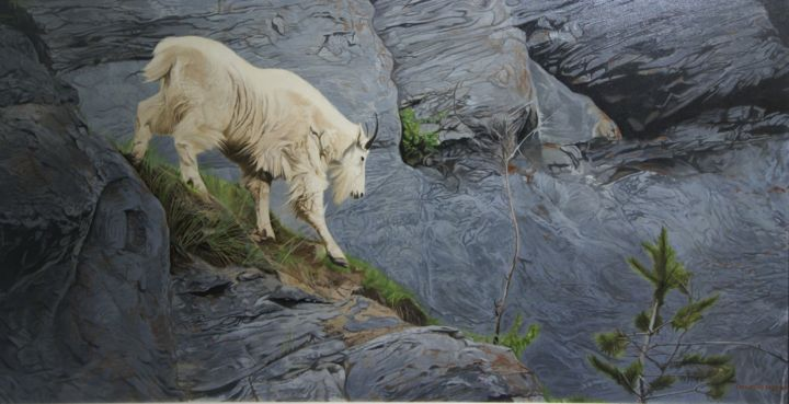 """Painting titled """"Oldman on the mount…"""" by Chul Hong Park, Original Art, Acrylic"""