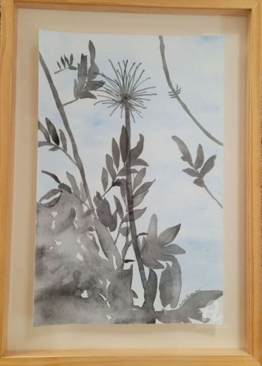 """Painting titled """"Shadows watercolor"""" by Charlotte Lenssen, Original Art, Watercolor"""