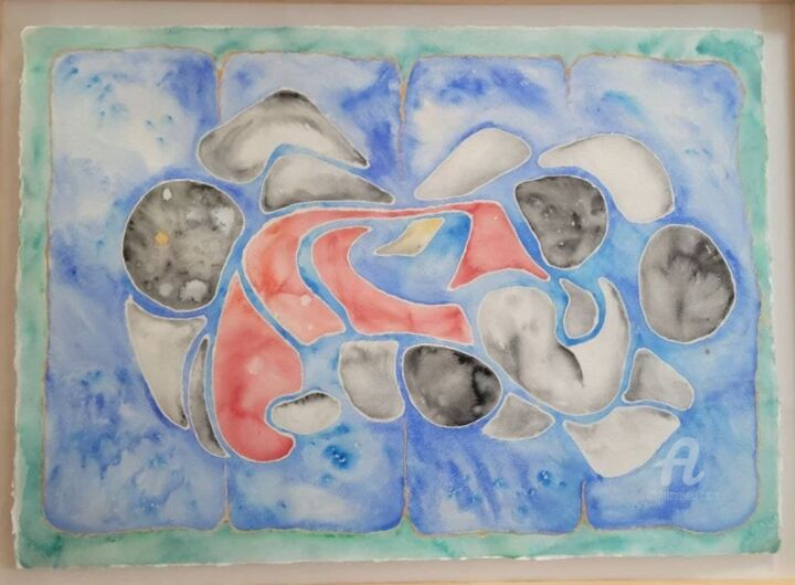 """Painting titled """"Pick yuur submission"""" by Charlotte Lenssen, Original Art, Watercolor"""