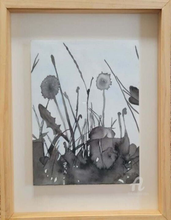 """Painting titled """"Shadows"""" by Charlotte Lenssen, Original Art, Watercolor"""