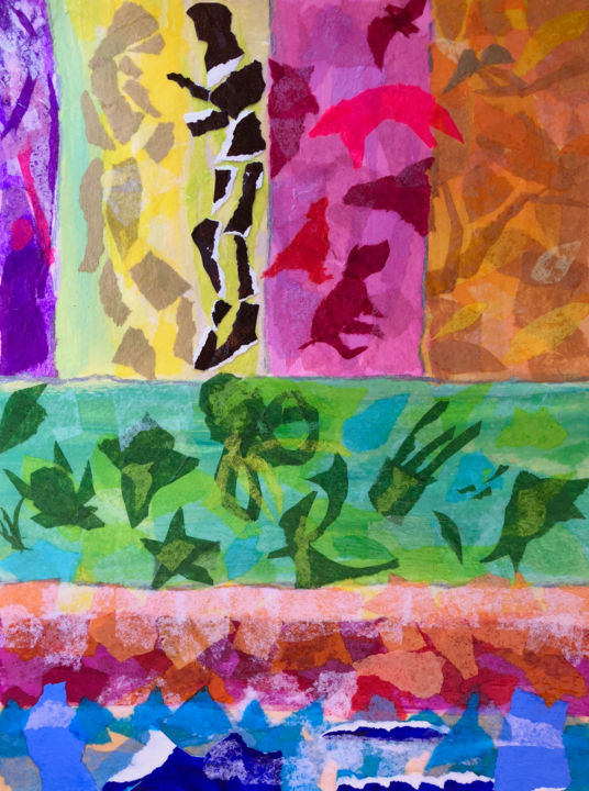 """Collages titled """"All My Relations"""" by Charlotte D'Aigle, Original Art, Collages"""