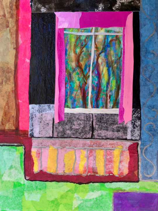"""Collages titled """"A Day Like Today"""" by Charlotte D'Aigle, Original Art, Collages"""