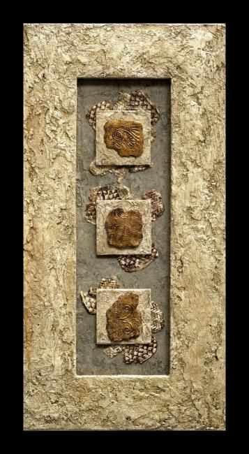 """Collages titled """"Ancient Fragments 2"""" by Charmaine Bartlett, Original Art,"""