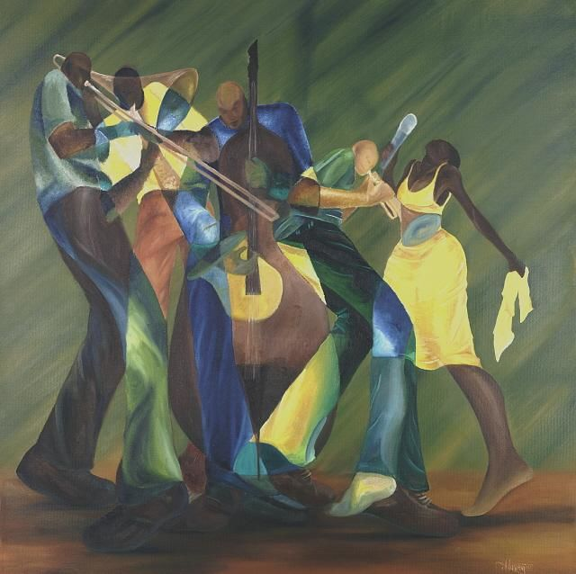 """Painting titled """"Incline to jazz II"""" by Charles Harvey, Original Art,"""