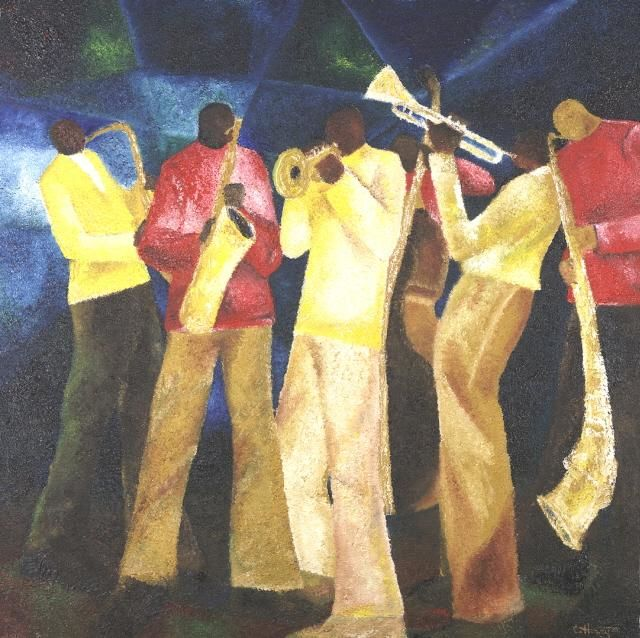 """Painting titled """"Jazz session I"""" by Charles Harvey, Original Art,"""