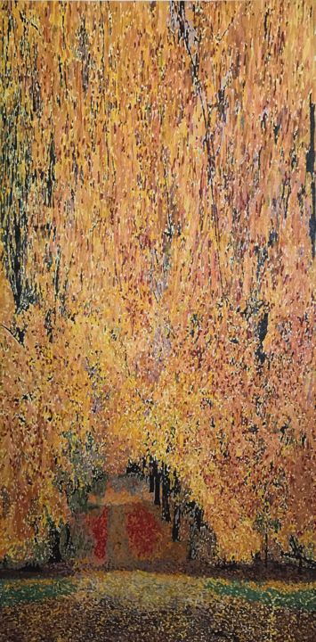 """Painting titled """"Autumn abstraction(…"""" by Che.Shahryar, Original Art, Oil"""