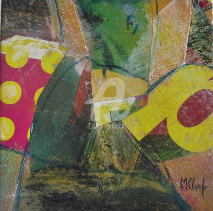 Pop-art - Collages,  7.9x7.9 in, ©2020 by Monique Chef -                                                                                                                                                                                                                                                                      Abstract, abstract-570, Abstract Art, pop-art, collage