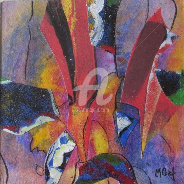 30x30-039.jpg - Collages,  30x30 cm ©2015 by Monique CHEF -                                        Abstract Art, Abstract Art