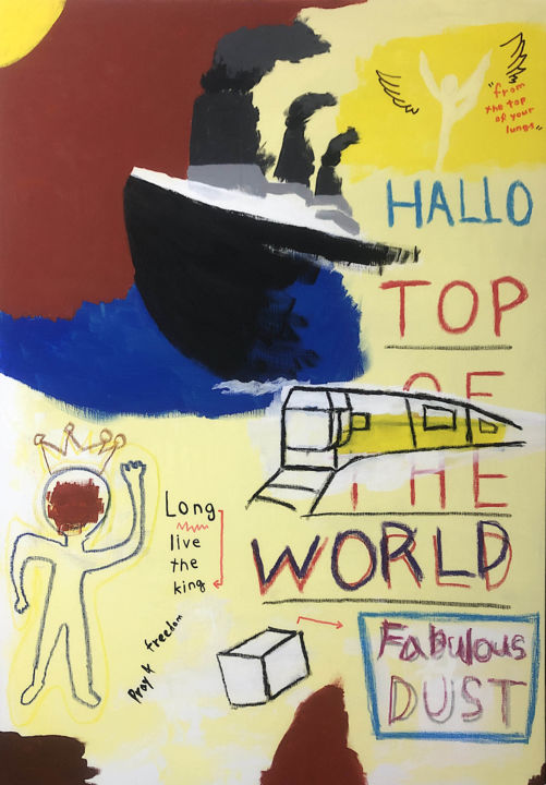 """Painting titled """"Top of the world"""" by Taeyang Hong, Original Art, Gouache"""