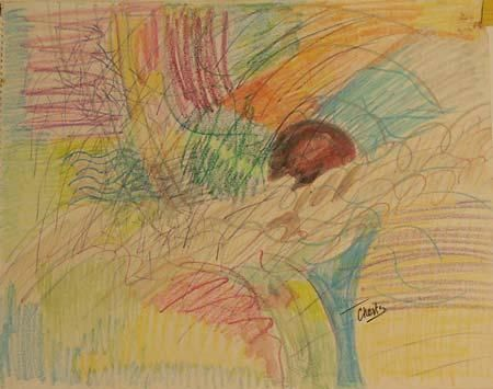 dessin 4 - Drawing ©1998 by richard raveen Chester -            dessin drawing aquarelle water colour