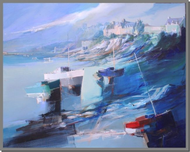 """Painting titled """"st malo"""" by Lionel Chevalier, Original Art,"""