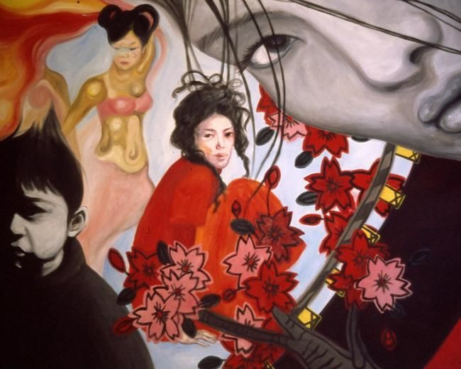 """Painting titled """"Japanese shades"""" by Chi, Original Art,"""