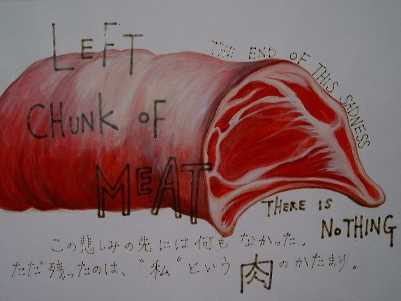 """Painting titled """"the story of meat #4"""" by Chi, Original Art,"""